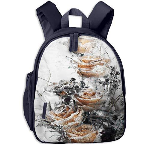 Kinderrucksack Kleinkind Jungen Mädchen Kindergartentasche Spiegel Gefrierschrank Blume Gefrorenes EIS Backpack Schultasche Rucksack