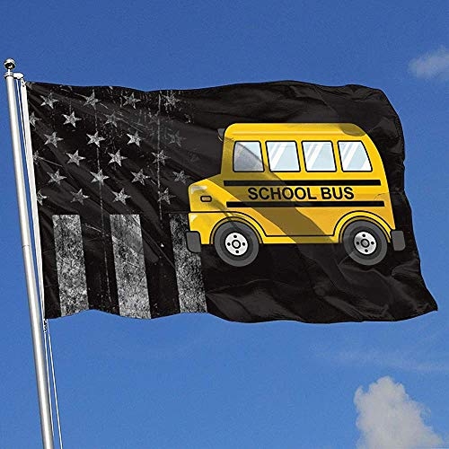 Elaine-Shop Abgenutzte Flaggen im Freien USA Flagge Schulbus 4 * 6 Ft Flagge für Wohnkultur Sport Fan Fußball Basketball Baseball Hockey