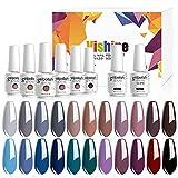 Vishine Lot de 22 couleurs Vernis Gel Semi-Permanent...