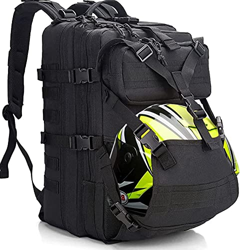 ZONEFR Mochila táctica Molle, 45 l, mochila casco, hombre y mujer, para ciclismo, camping, trekking, viajes, senderismo