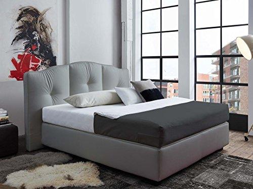 Schlichter Möbel Boxspringbett Bosse 180 x 200 cm (Weiß)