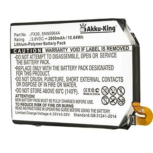 Akku-King Akku kompatibel mit Motorola FX30 - Li-Polymer 2800mAh - für Moto X Pure Edition, X Style, X Style X+2, XT1570, XT1572, XT1575