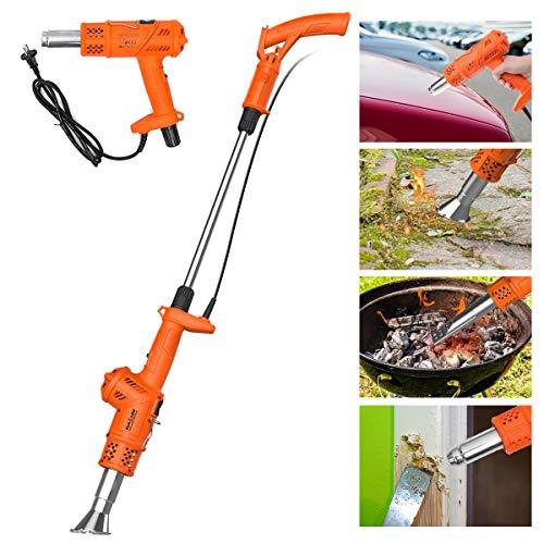 3in1 Funktion Unkrautvernichter Unkrautbrenner NASUM Abflammgerät und Heißluftpistole, ohne Gas &Chemie, elektrisch umweltfreudlich, 2000W Gartenwerkzeug, 80℃ bis 650℃, 1.8m Kabel mit 5 Düsen