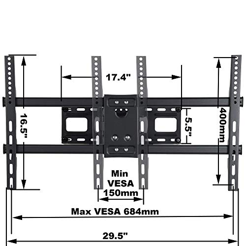 """VideoSecu MW380B5 Full Motion Articulating TV Wall Mount Bracket for Most 37""""-70"""" LED LCD Plasma HDTV Up to 125 lbs with VESA 684x400 600x400 400x400 150x100mm, Dual Arm Pulls Out Up to 14"""" AW9"""