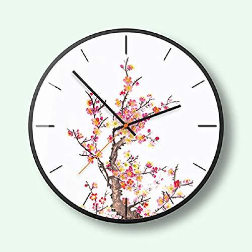 Reloj de Pared Pine 12 Inch Metal Wall Clock Nordic Household Mute Living Room Bedroom Minimalist Modern Decorative Metal Wall Watch Quartz 12Inch 3