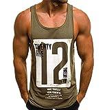 Camiseta de Tirantes Deportiva Hombre Tirantes Culturismo Fitness Deportiva. Ropa...