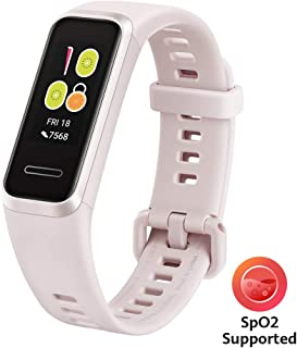 HUAWEI Band 4- Pulsera de actividad con pantalla a color TFT de 0.96 pulgadas, monitorización continua con HUAWEI TruSeen TM 3.5 24/7, monitoreo del sueño, resistencia al agua 5ATM, Sakura Pink