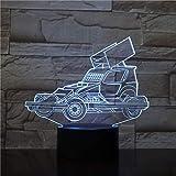 Solo 1 pieza camión pesado coche 3D acrílico luz nocturna USB lámpara de dormir lámpara de escritorio decoración de dormitorio niños regalo de cumpleaños