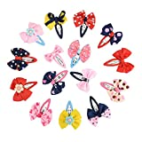 Frcolor Haarspange 15pcs Haarschmuck mit Schleife Deko für Mädchen/süße Haarclip für Kinder (zufällige Farbe)