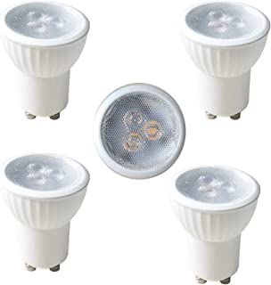 MR11 GU10 35mm Mini LED 110V 120V 3W Tiny led Spotlight Small Bulb Replace 35W Halogen Bulb Equivalent GU10 LED spot Light 2700K Warm White (4pcs Warm White 2700-2900K)