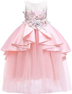 5135078a5554e Robe Fille Ceremonie Enfant Robe Fille Mariage Robe Fille Princesse  Dentelle Audrey Hepburn Robe Fille 3