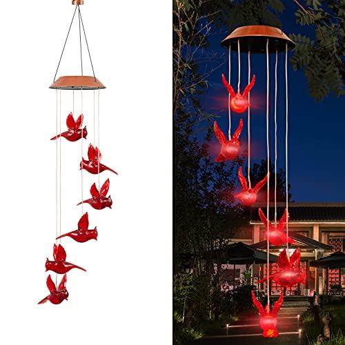 Cardinal Bird Wind Chime