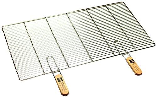 PG Metalltechnik Edelstahl Rost Grillrost - rechteckig und rund - Grill Rost Grössenauswahl (82 x 43 cm mit Griffen)
