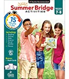 Summer Bridge Activities Workbook—Grades 7-8 Reading, Writing, Math, Science, Social Studies, Fitness Summer Learning Activity Book With Flash Cards (160 pgs)