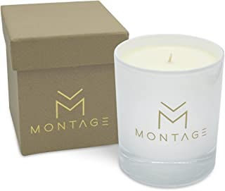 Montage Lifestyle Sweet Orange Patchouli & Frankincense Soy Wax Candle in Gift Box- Zen- Meditation Aromatherapy Candle for De-Stress with 100% Pure Essential Oils-7OZ- 60Hrs-Handmade in Greece