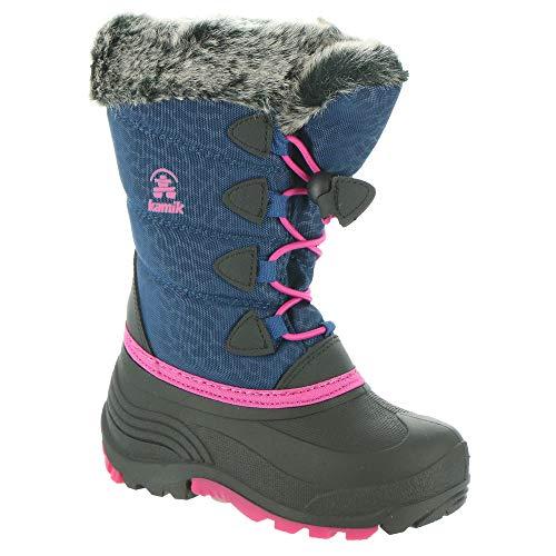 Kamik Girls' Snowgypsy 3 Waterproof Winter Boot Light Navy 2 Medium US