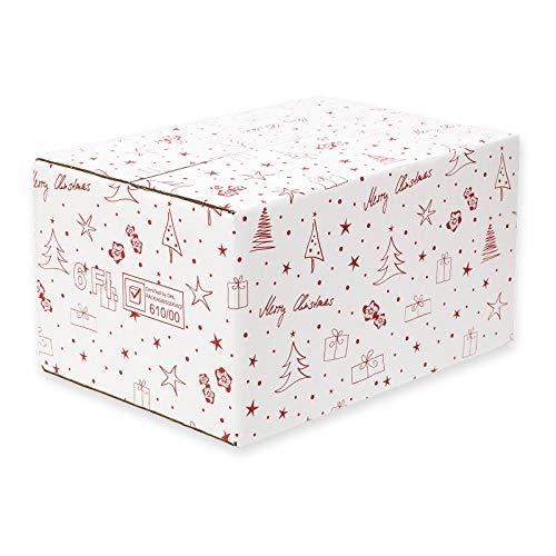 Versandkarton Weihnachten 6 Flaschen oder 6er Weinpräsenkartons DHL PTZ 10 St