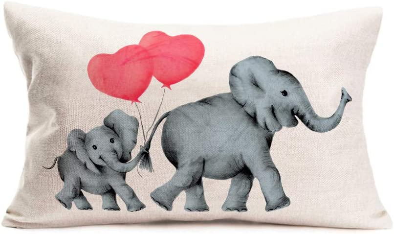 Doitely Home Pillowcase low-pricing Cotton Linen Valentine's Decorative Limited price sale Day