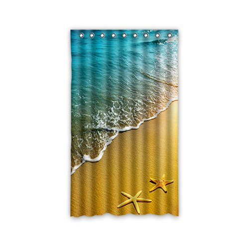 Doubee Custom Starfish Duschvorhang 100prozent Polyester Fenstergardinen 127cm x 213cm (1 Stück)