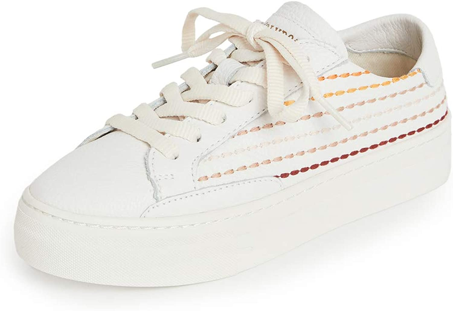 Soludos Boston Mall Quilted Excellent Stripe White Sneaker