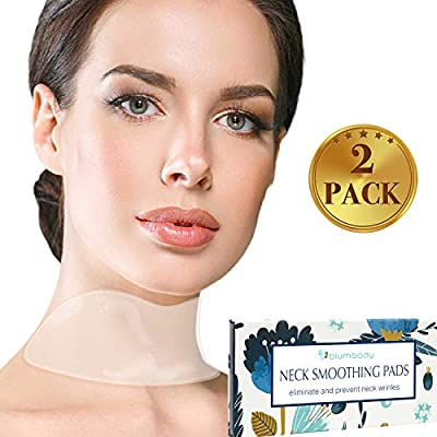 Blumbody Neck Wrinkle Pads — 2 Silicone Wrinkle Treatment and Prevention Patches — reusable Pad Anti Wrinkles