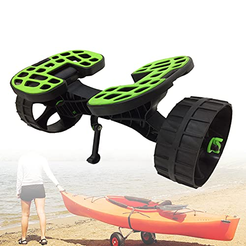 EFGS Rueda De Playa Transporte Kayak,Carga 75kg Carro Aluminio Kayak,tamaño Ajustable El Plastico Playa/Pesca/Surf