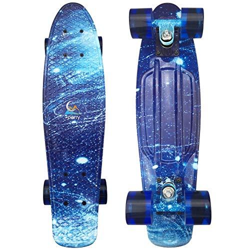 YULINGSTYLE Penny Board, 22 inch Skateboard ist Geeignet für Skateboard Kkinder ab 8 Gahre, Street Outdoor Sports Penny Board Pastel für Kinder