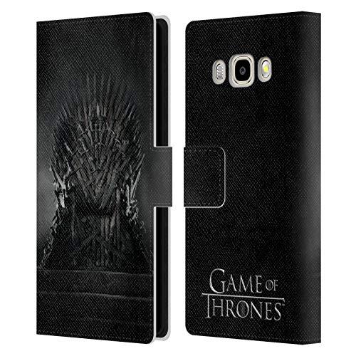 Head Case Designs Licenza Ufficiale HBO Game of Thrones Trono di Ferro Disegni Chiave Cover in Pelle a Portafoglio Compatibile con Samsung Galaxy J5 (2016)
