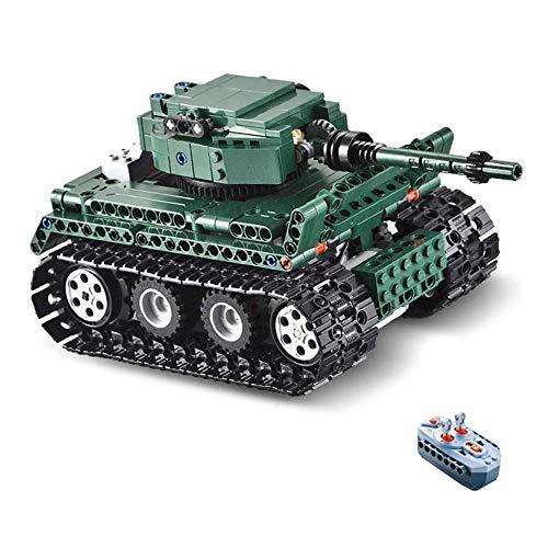 Elektrische Fernbedienung Tank Kinder Spielzeug DIY Montage Baustein Mechanische Wagen Kreative Puzzle 2,4G RC Spielzeug Auto Teen Junge