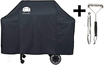 Texas Grill Covers 7573 | 7106 Premium Cover for Weber Spirit 200 and 300 Series and Weber Genesis Silver Gas Grill Including Grill Brush and BBQ Tongs