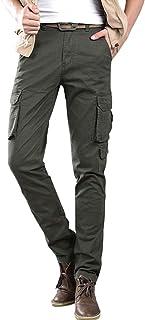 ZiXing Men's Cargo Slim Trouser Combat Work Trouser Workwear Pants