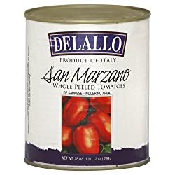 Delallo Brand San Marzano Tomatoes in a large can