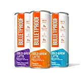 Variety Cold Brew Coffee, 8 Fl Oz, 110 Calories, 4 of Each Original, Chocolate, Vanilla, Bulletproof Iced Keto Coffee with 8g Protein, Brain Octane C8 MCT Oil, Grass Fed Butter, Zero Added Sugar