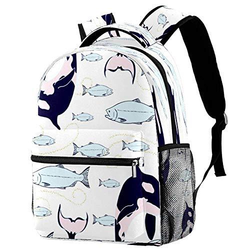 Mochila negra del arte del gato de la mochila de la escuela del libro del bolso casual para el viaje, estampado 6, Talla única, Mochila de a diario