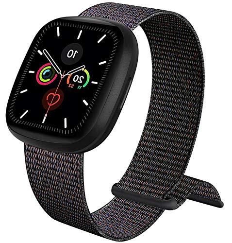 ATOO Nylon Cinturino Orologio per Apple Watch 38mm 40mm 42mm 44mm, Leggero Traspirante Cinturino di Ricambio Sportivo per iWatch SE Series 6 5 4 3 2 1