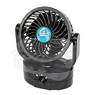 Streetwize SWCF4 Oscillating 12v Car Fan Dash or Caravan Boat, Small, Deluxe