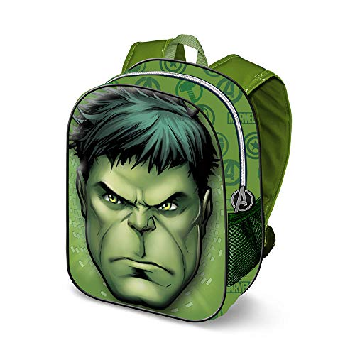 KARACTERMANIA Hulk Rage-3D Backpack (Small) Kinder-Rucksack, 31 cm, 8.5 liters, Grün (Green)