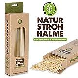 100 Stück BiO Weizen Strohhalme wiederverwendbar Umweltreundliche Trinkhalme Set