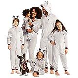 Family Make it Rein Matching Pajamas - Youth Unisex Reindeer Onesie Size M