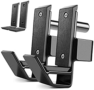 XPRT Fitness Steel J-Hooks for Most 2''x2'' Sq. Tube Power Rack, Set of 2, Easy Installation and Height Adjustment, Extra Padding for Better Barbell Protection, Reduce Noise.