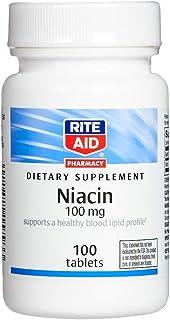 Rite Aid Niacin, 100mg - 100 Tablets | Vitamin B3 Supplement