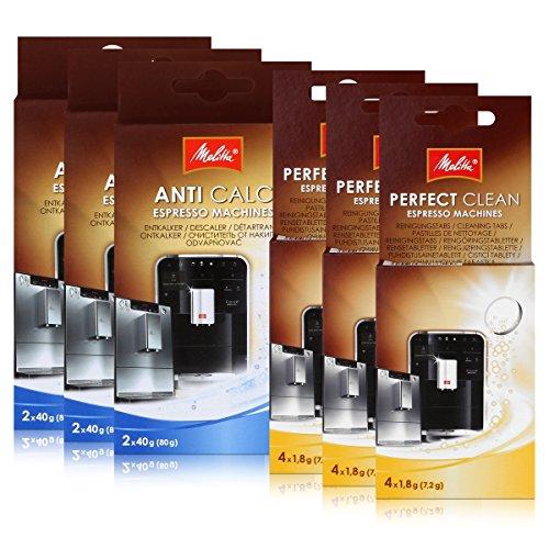 3 x MELITTA Reinigungstabs & Entkalker für Espresso Maschine