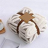 Crystallly Franela Fleece Throw Blanket Manta para Bebé Jacquard Velvet Blanket...