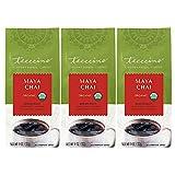 Teeccino Chicory Coffee Alternative – Maya Chai – Ground Herbal Coffee That's Prebiotic, Caffeine Free & Acid Free, Medium Roast, 11 Ounce (Pack of 3)