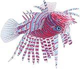 TBNB Decoración de Acuario Peces Artificiales para acuarios, pecera Flotante, Peces Tropicales Falsos, Divertidos y Luminosos, Peces de Silicona, Peces en Movimiento realistas, decoraci