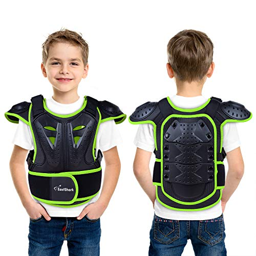 Seahouse Youth Dirt Bike Body Chest Spine Protector Vest Gear for Motocross Skiing Kids Protect Sport Gear