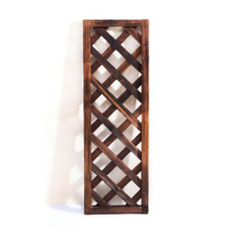 アラートトリクル肥沃なYYFANG 木製フェンス分離されたスペース木のボーダー装飾的な庭の高温炭化の屋内および屋外の耐候性がある含浸、9サイズ (Color : Brown-2pcs, Size : 30x60cm)