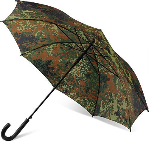 Outdoor Regenschirm Regenschutz Bundeswehr Flecktarn mit 8 Rippen