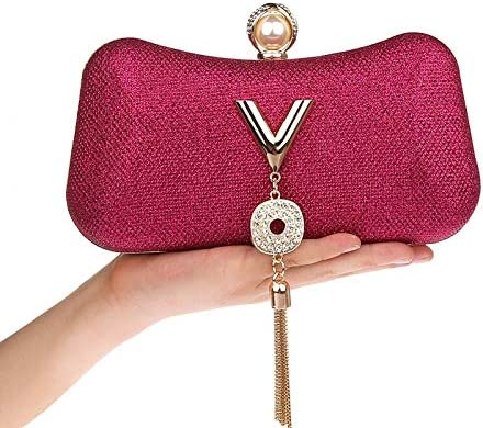 MLACE YINGMI Women Evening Bags Handmade Beaded Diamonds Soft Shell Design Day Clutches for Wedding/Party/Dinner Purse