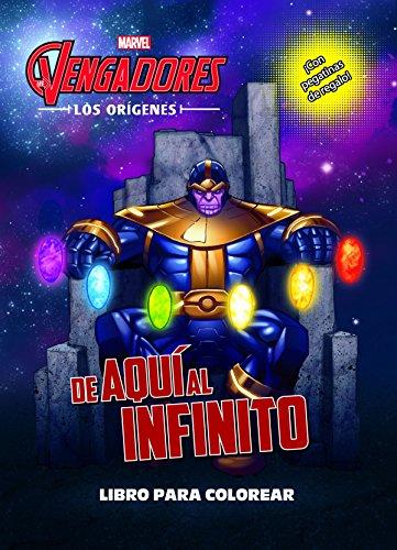 Los Vengadores. Los orígenes. De aquí al infinito. Libro para colorear: Colorear con pegatinas (Marvel. Los Vengadores)
